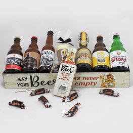 "Bierplank langwerpig ""May your beer glass never be empty"""